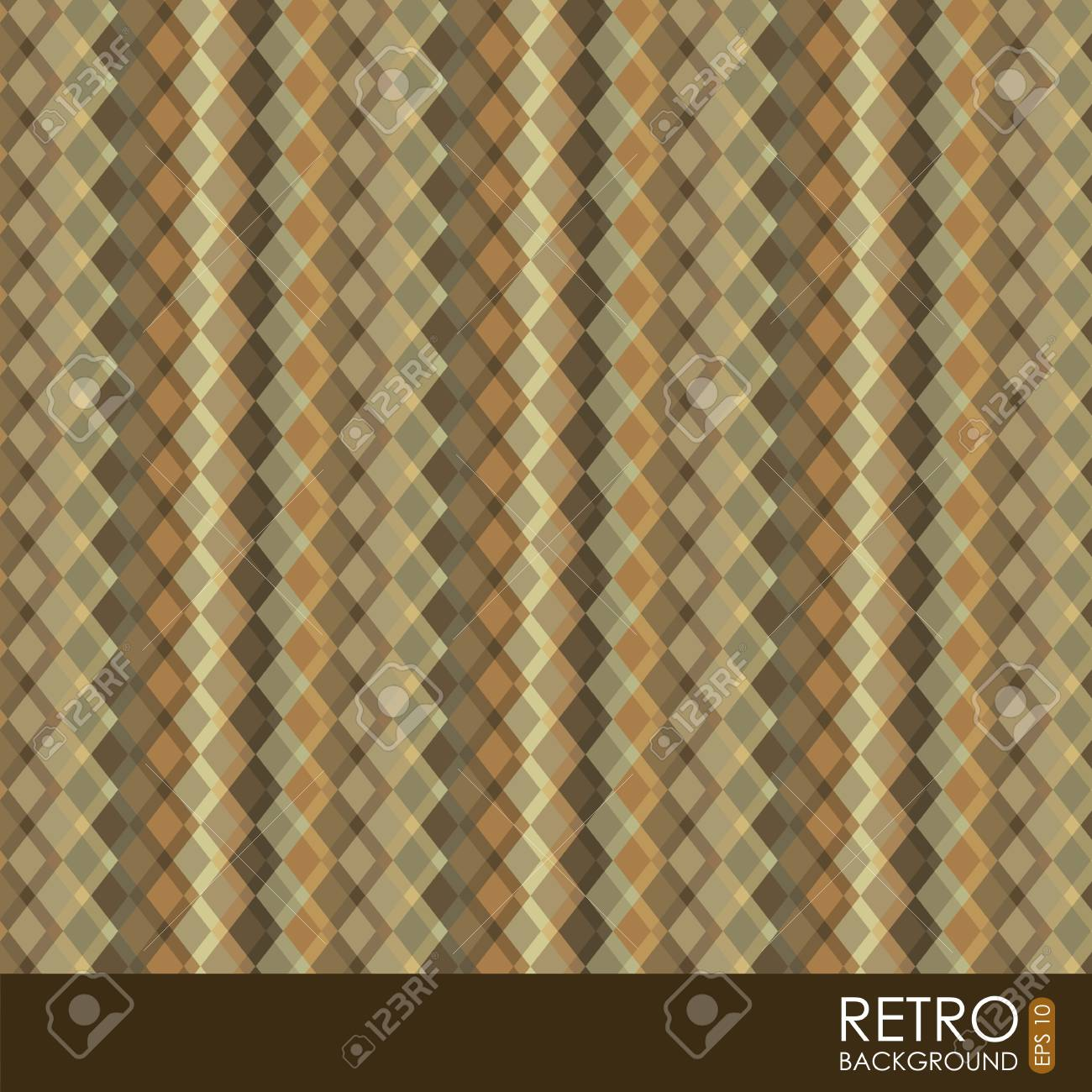retro illustration  over pattern background. vector Stock Vector - 19179832