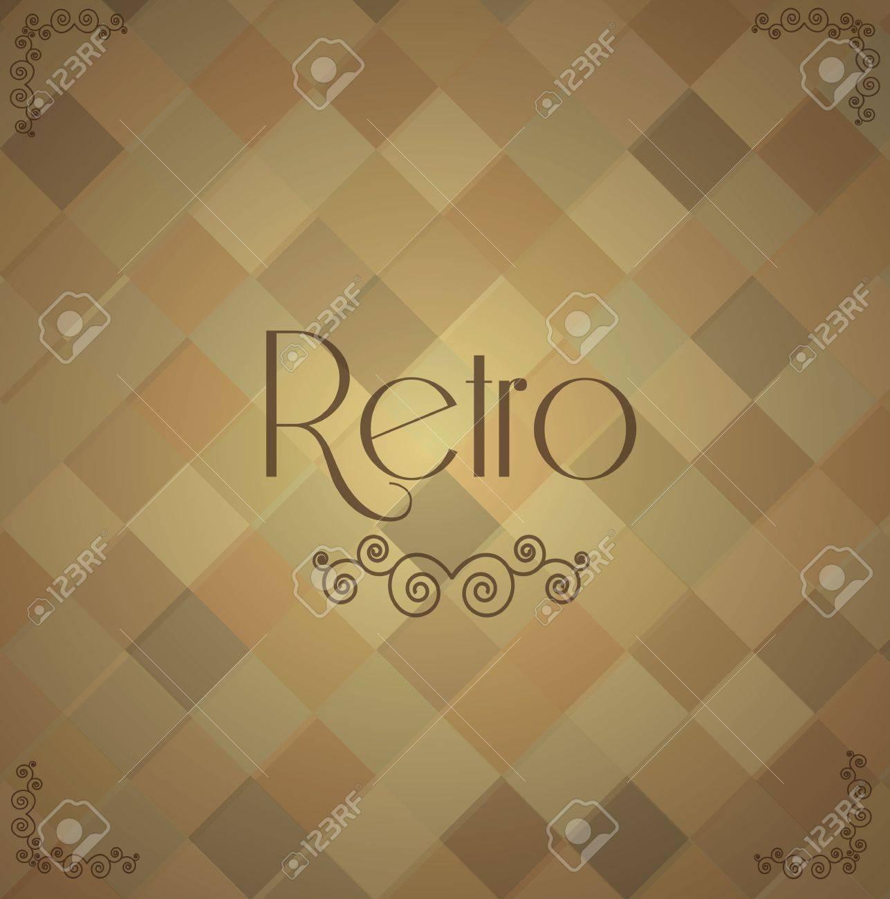 Retro and vintage label over vintage background illustration Stock Vector - 19306138