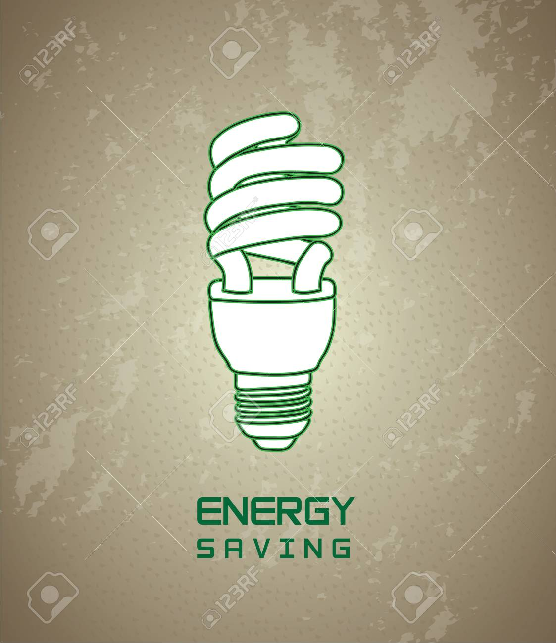 Energy saving over vintage background illustration Stock Vector - 19306329