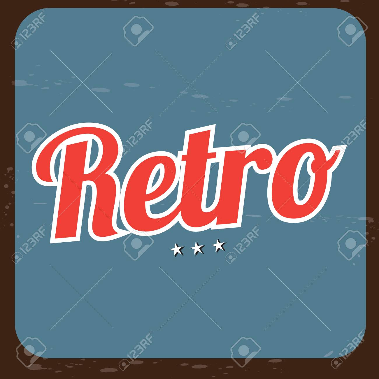 Retro label over blue and brown background illustration Stock Vector - 19306079