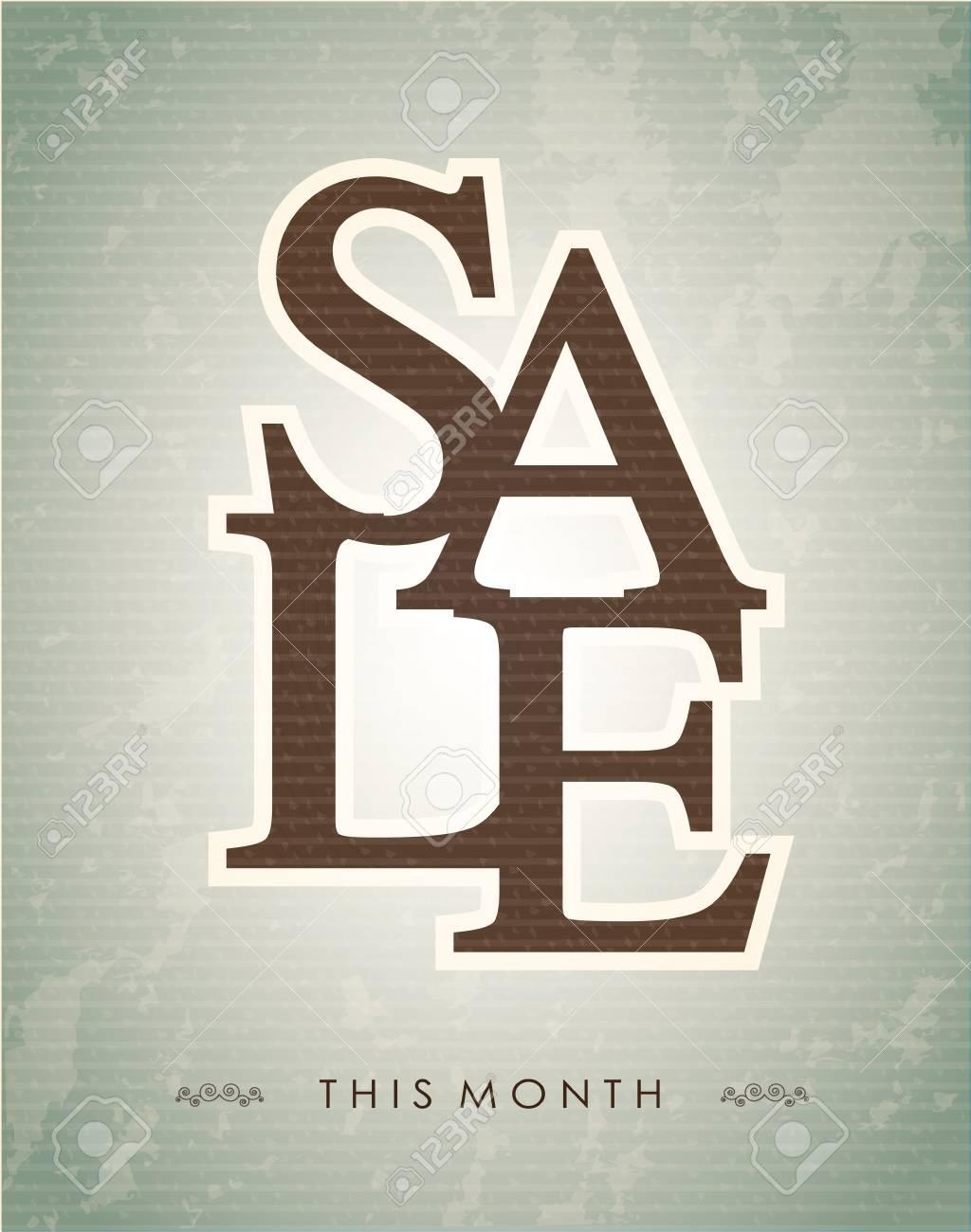 Sale label over vintage background illustration Stock Vector - 19307503