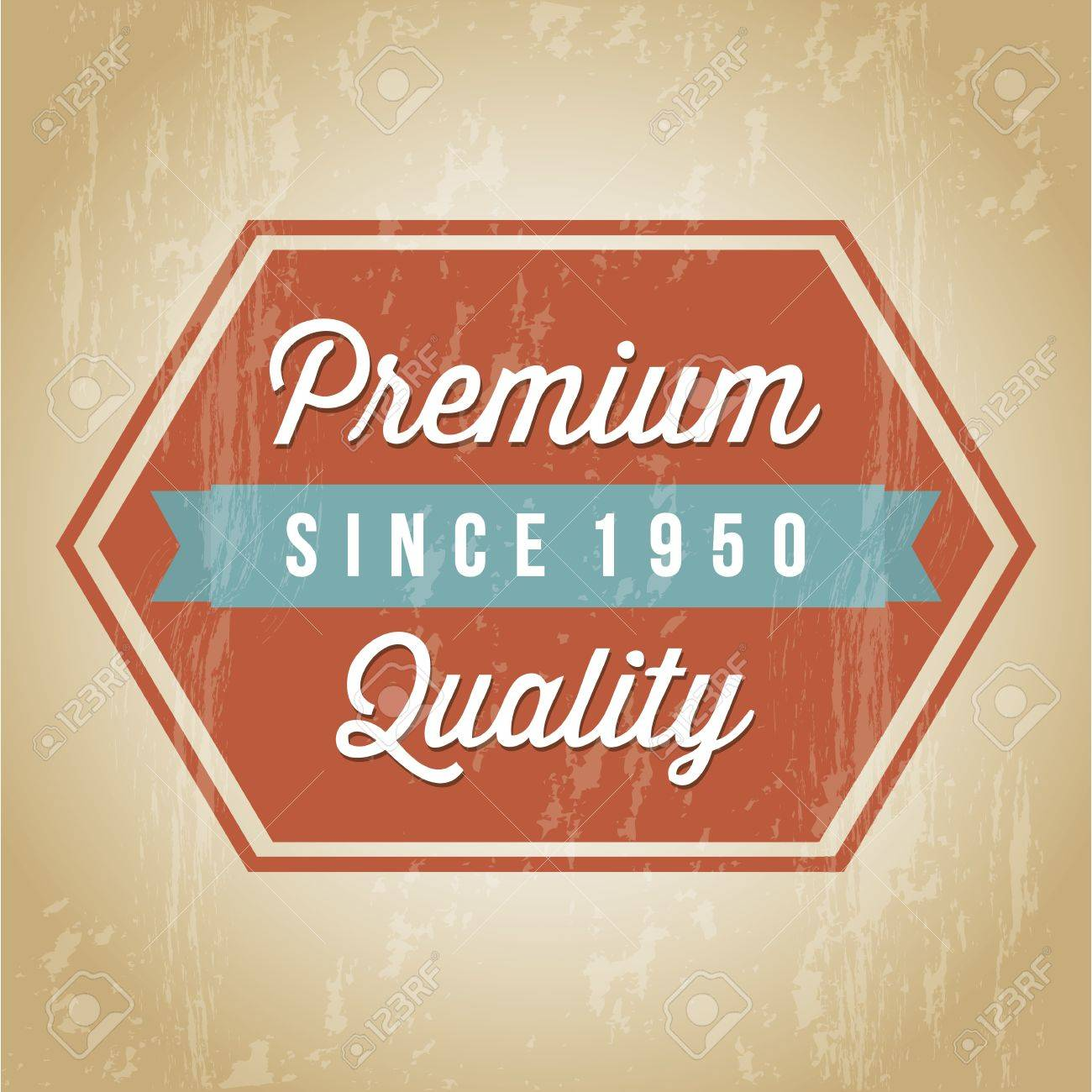 premium quality over brown background. vector illustration Stock Vector - 19463602