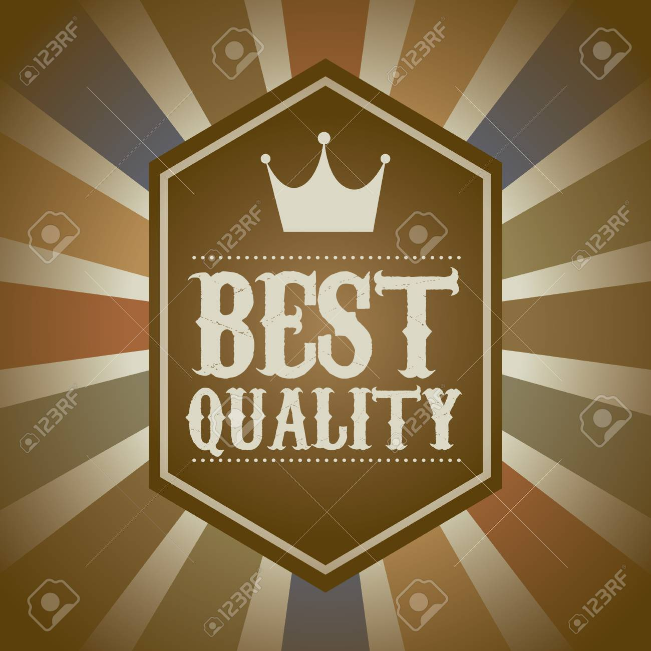 premium quality over vintage background. vector illustration Stock Vector - 19625896