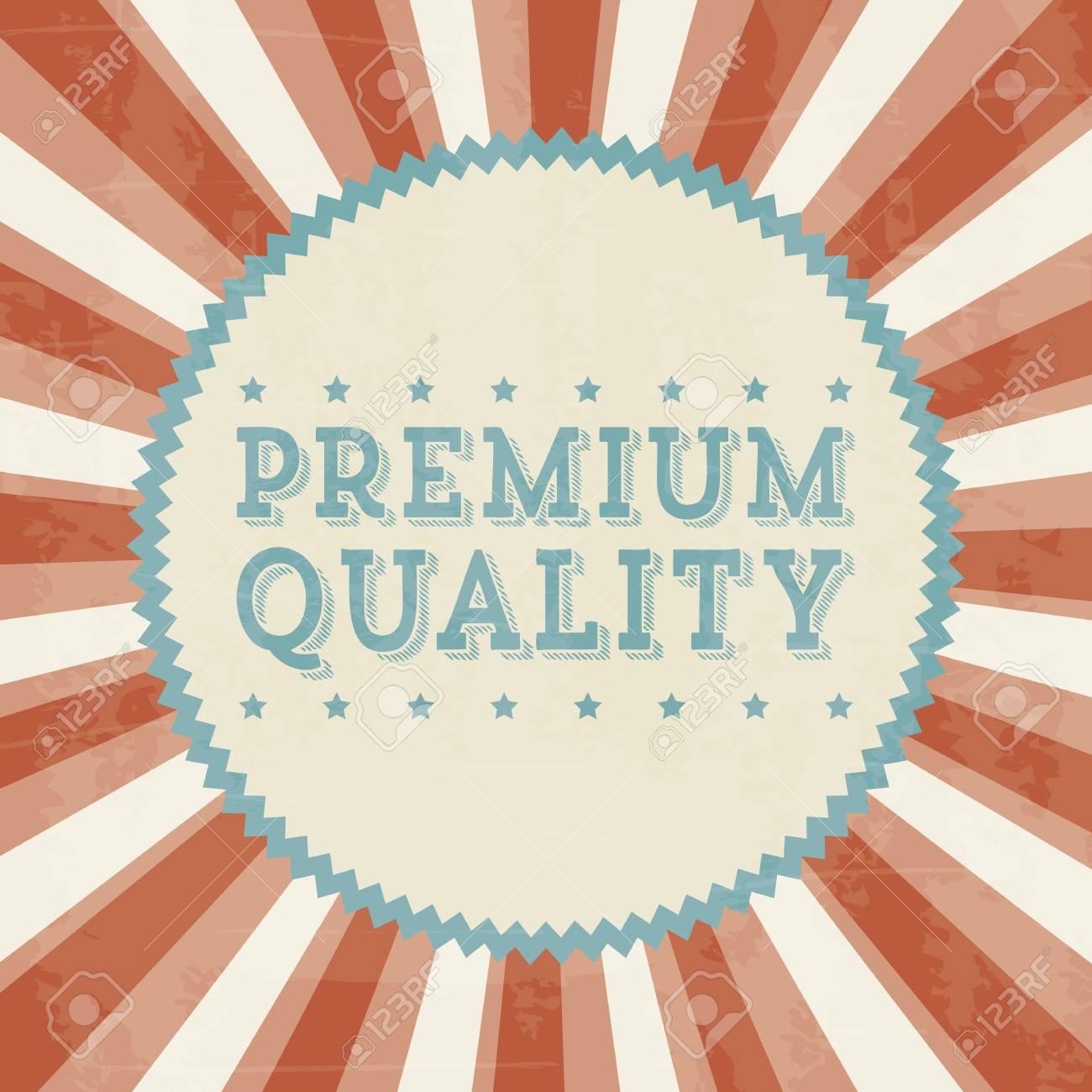 premium quality over beige background. vector illustration Stock Vector - 19625932
