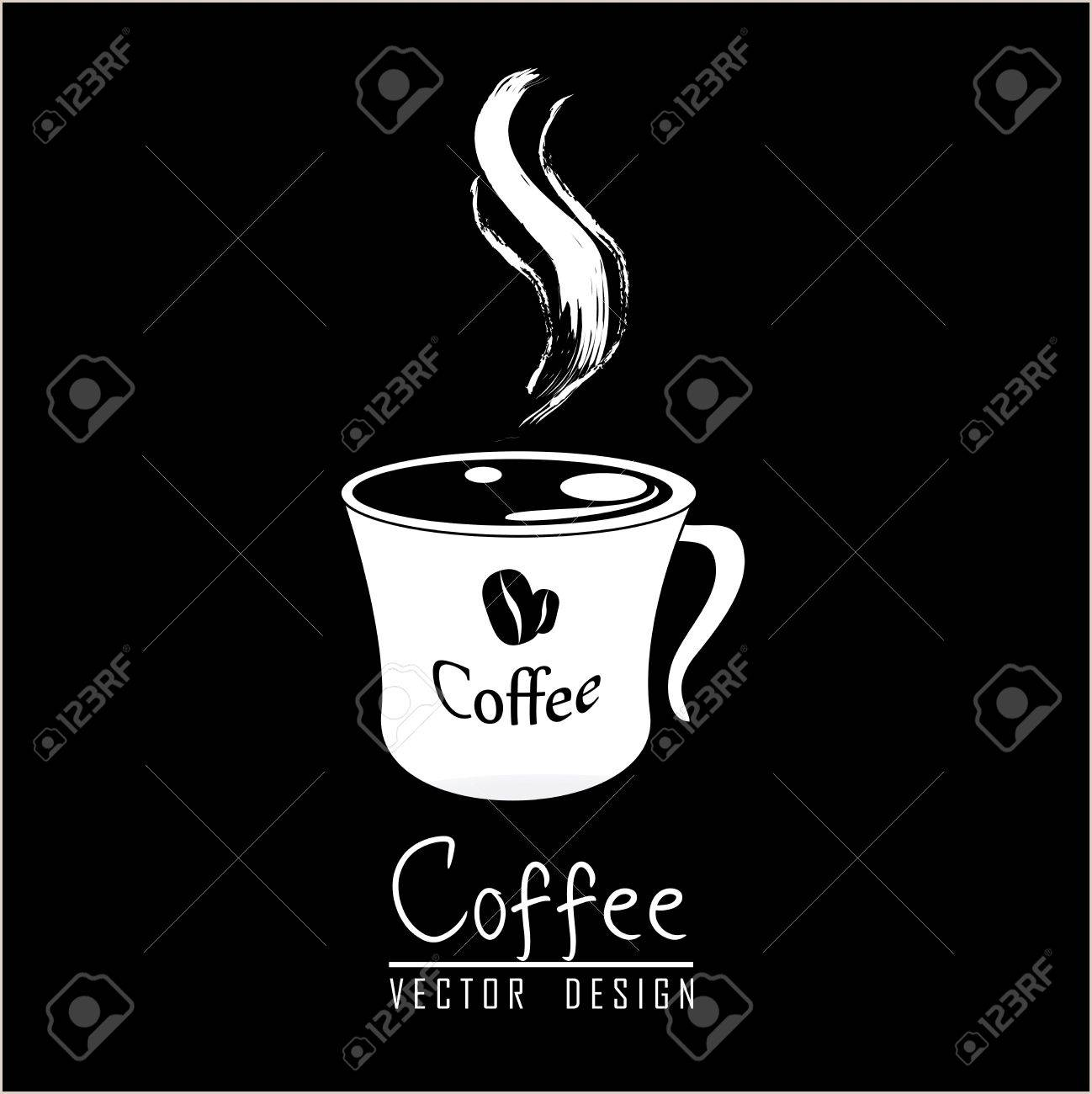 Coffee cup with aroma over black background Stock Vector - 19625759