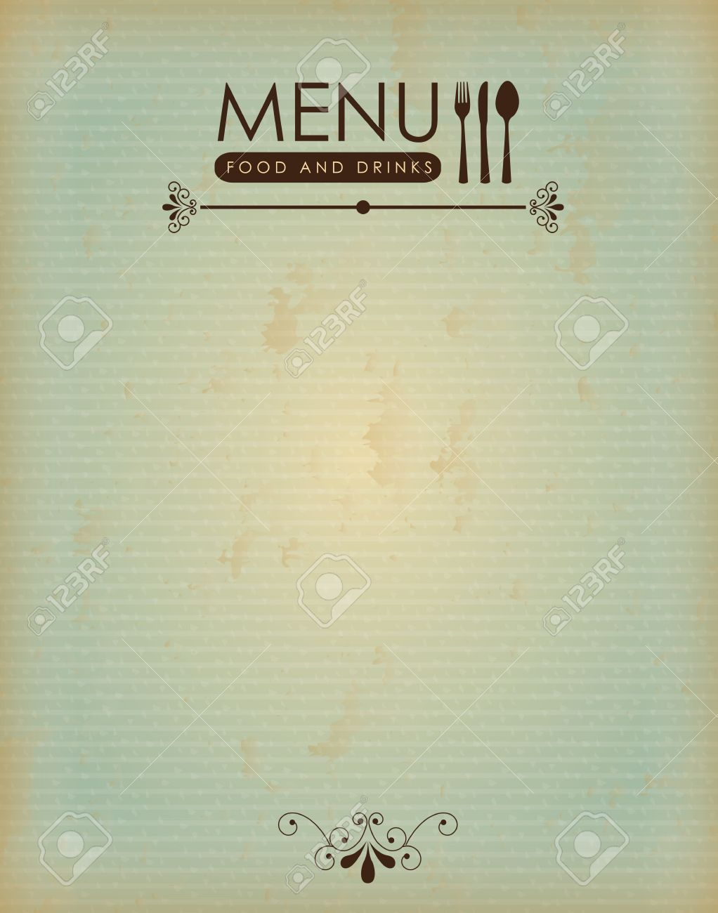 food menu over wooden background illustration royalty free cliparts