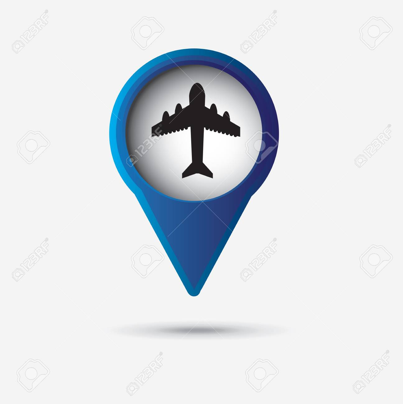 plane icon over gray background illustration Stock Vector - 19674032
