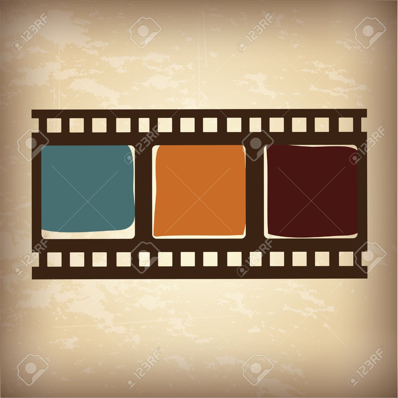 video tape over vintage background illustration
