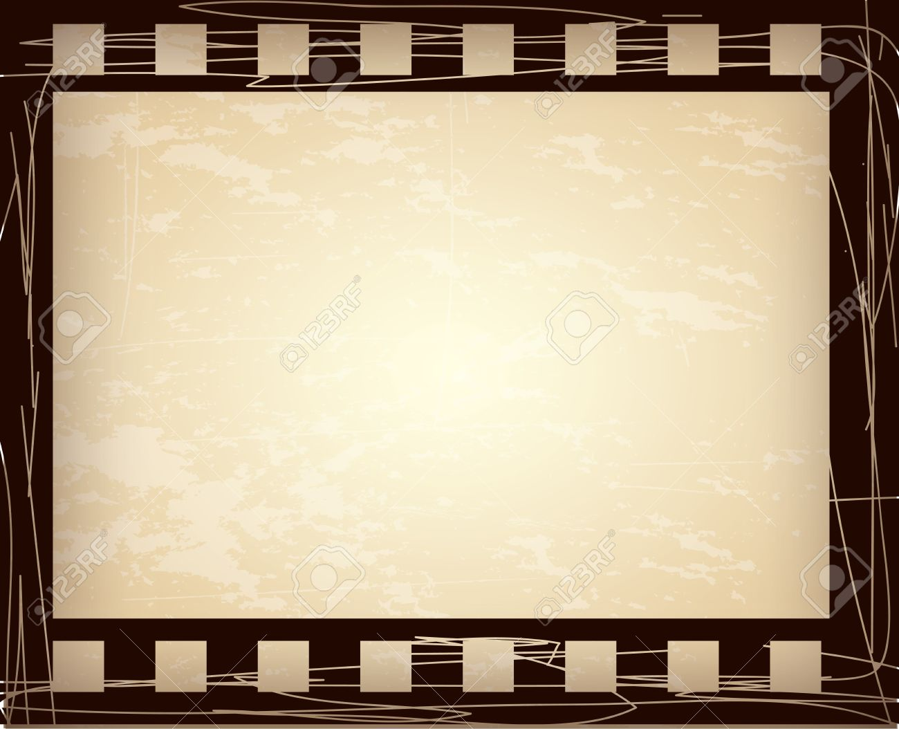 Roll Of Film Over Vintage Background Illustration Royalty Free ...