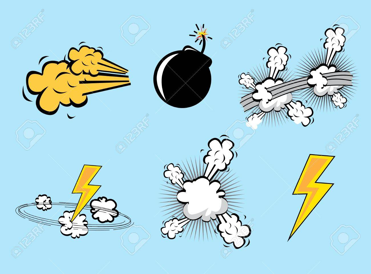 comics icons over blue background illustration Stock Vector - 19773024