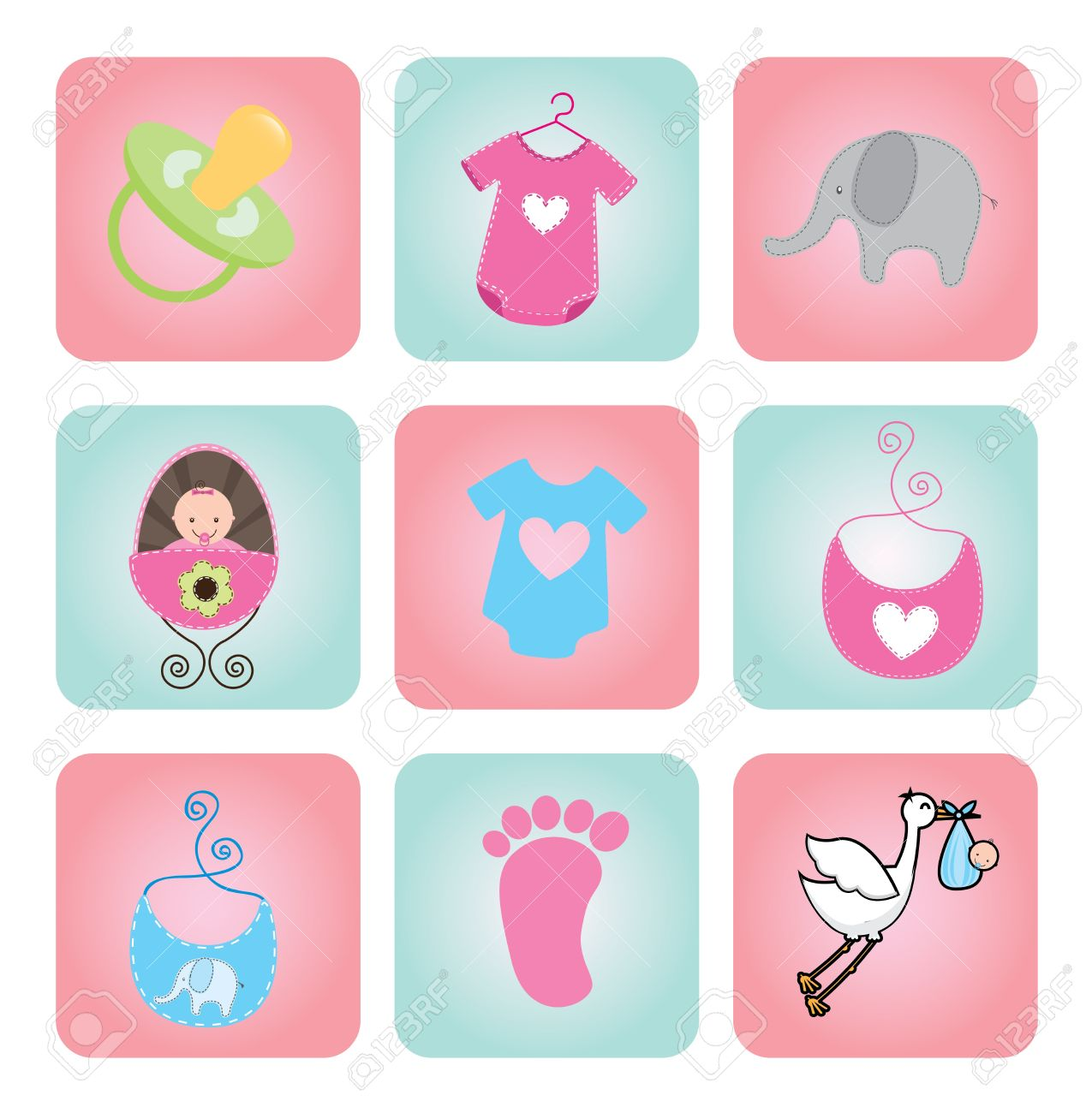 Shower Icon Vector Vector Baby Shower Icons