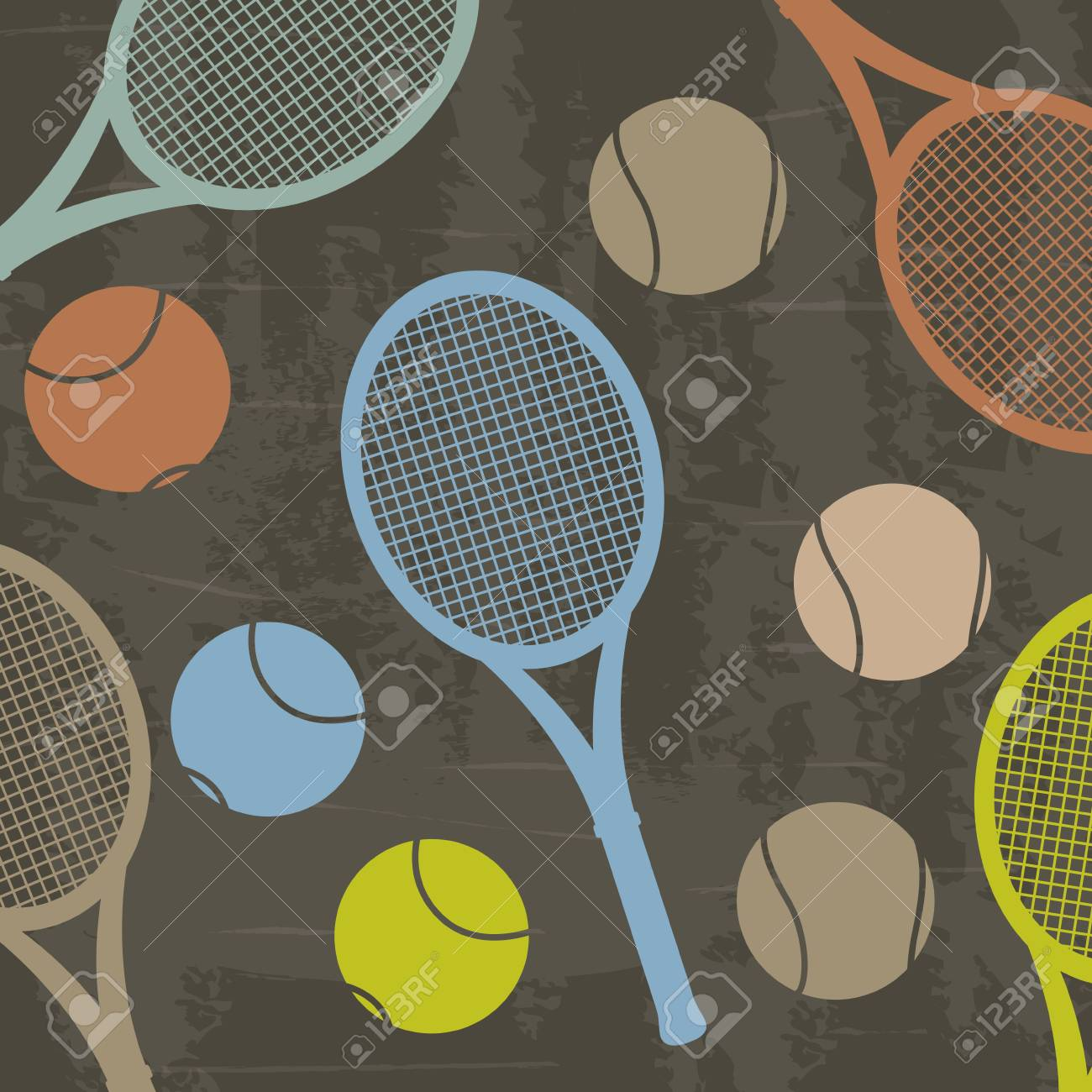 tennis design over grunge background vector illustration Stock Vector - 19916671