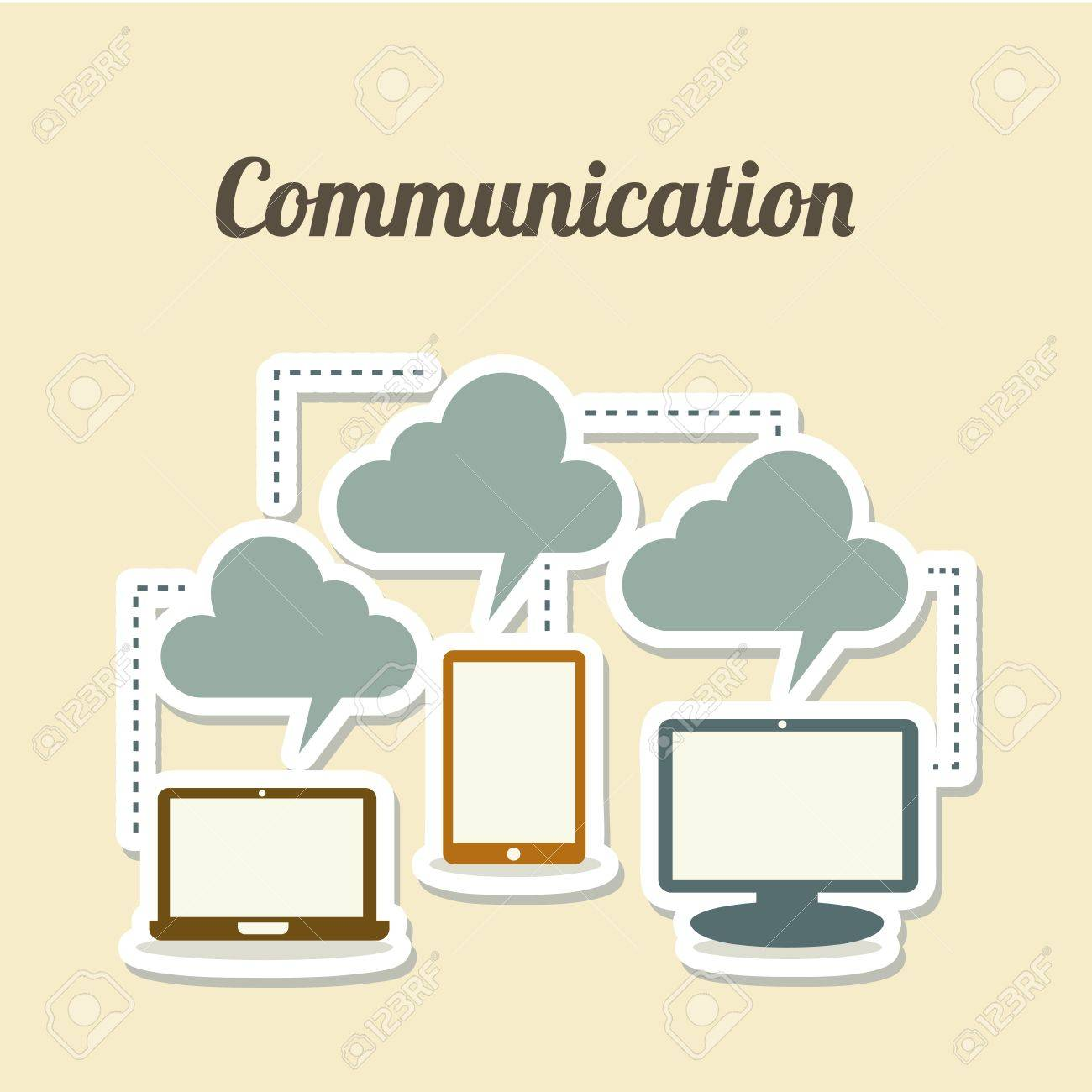 technological icons over white background vector illustration Stock Vector - 20040863