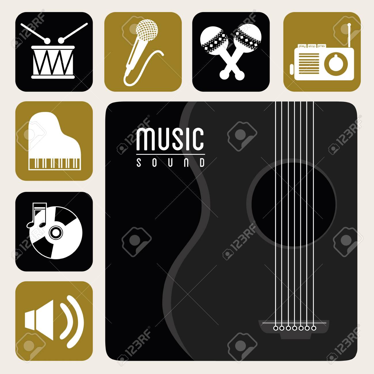 music  sound  over white background vector illustration Stock Vector - 20040946