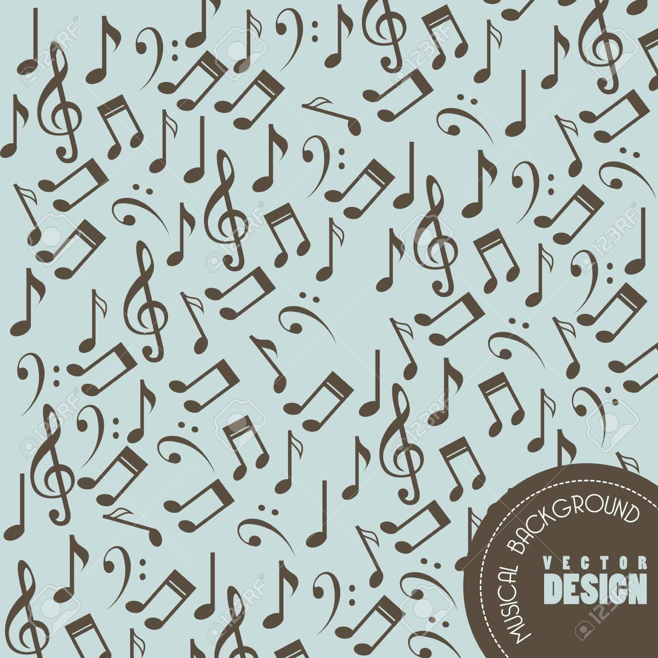 musical design over blue background vector illustration Stock Vector - 20040953