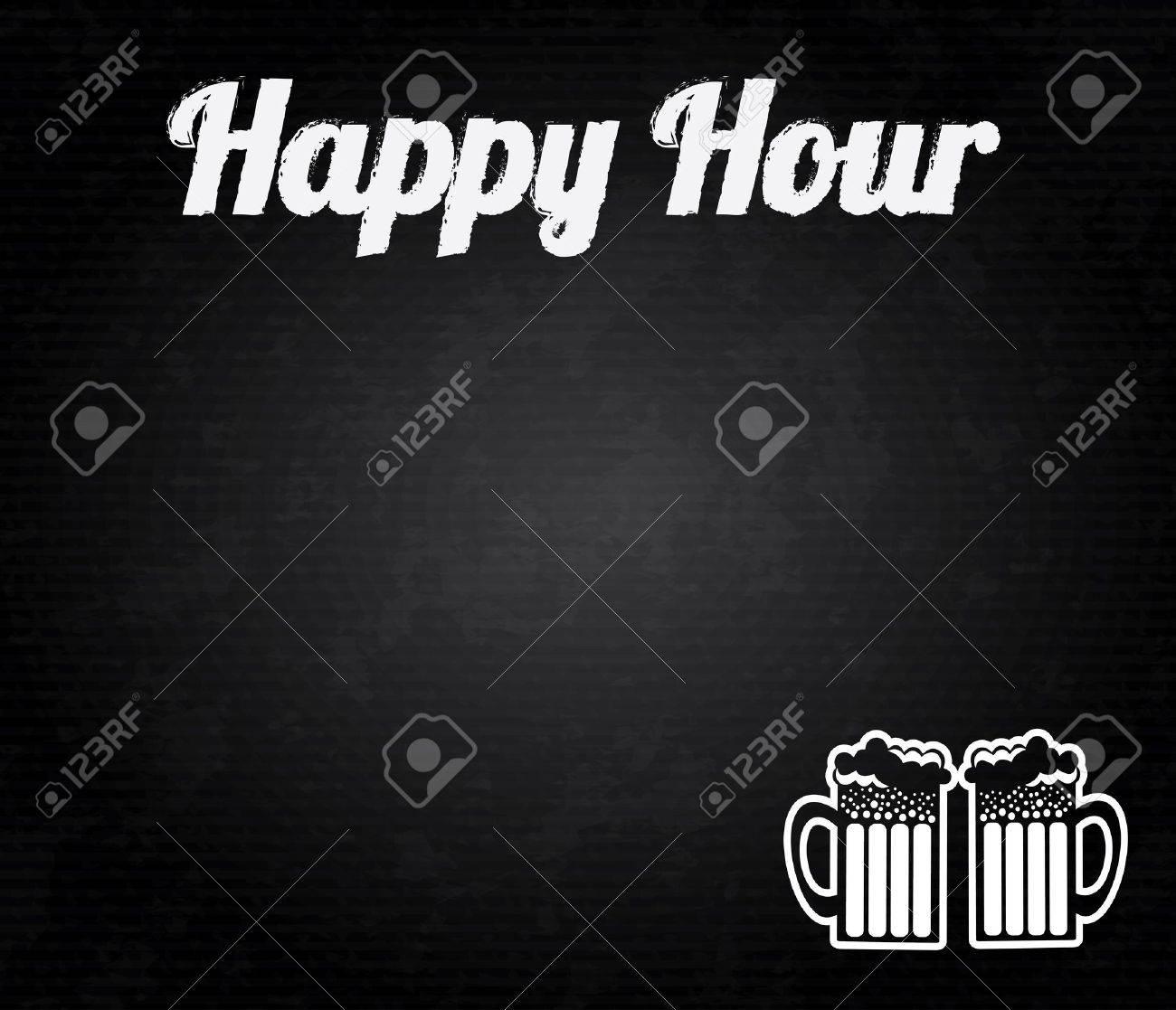 happy hour design over black background vector illustration Stock Vector - 20054025