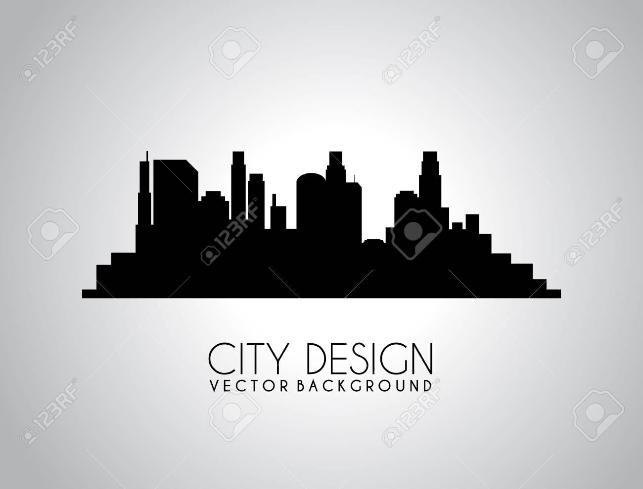 city design over gray background vector illustration Stock Vector - 20107851