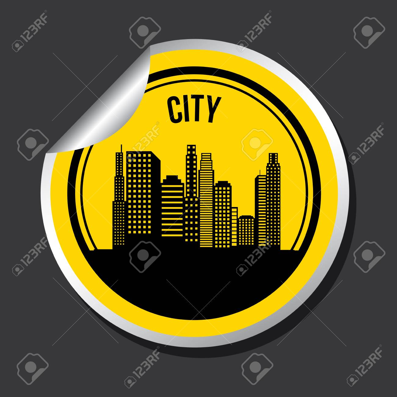 city design over black background vector illustration Stock Vector - 20107897