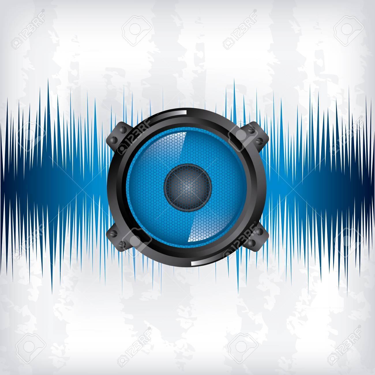sound wave design over gray background vector illustration Stock Vector - 20108002