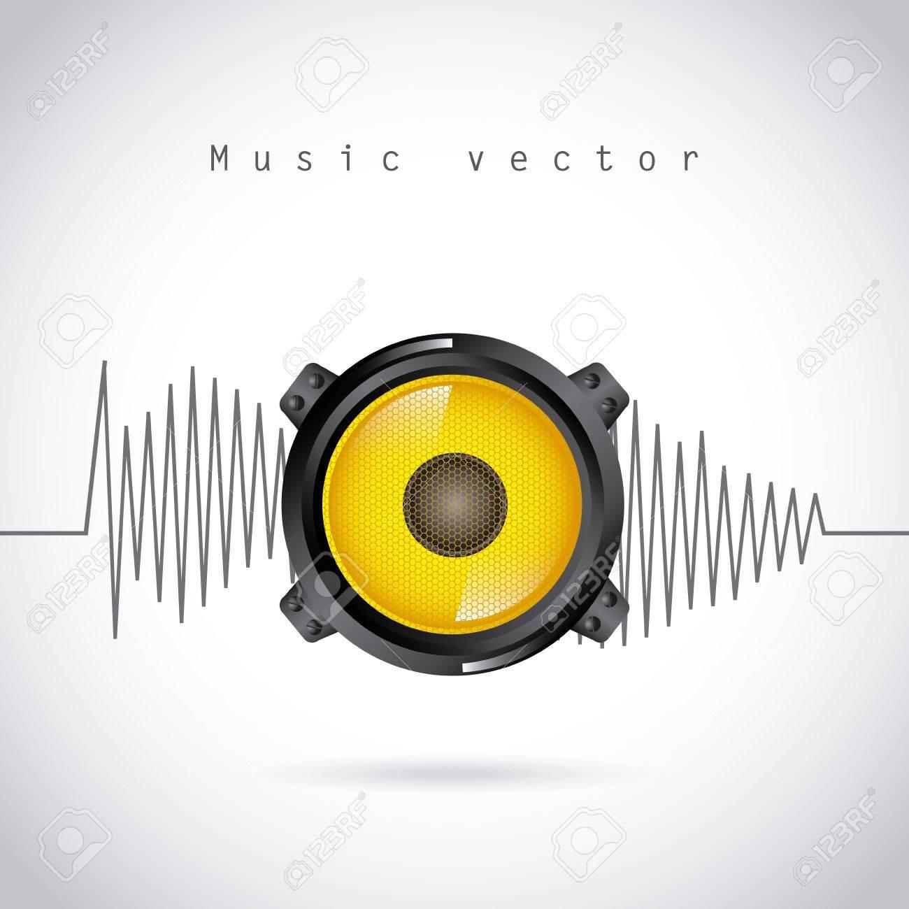 sound wave design over gray background vector illustration Stock Vector - 20107917