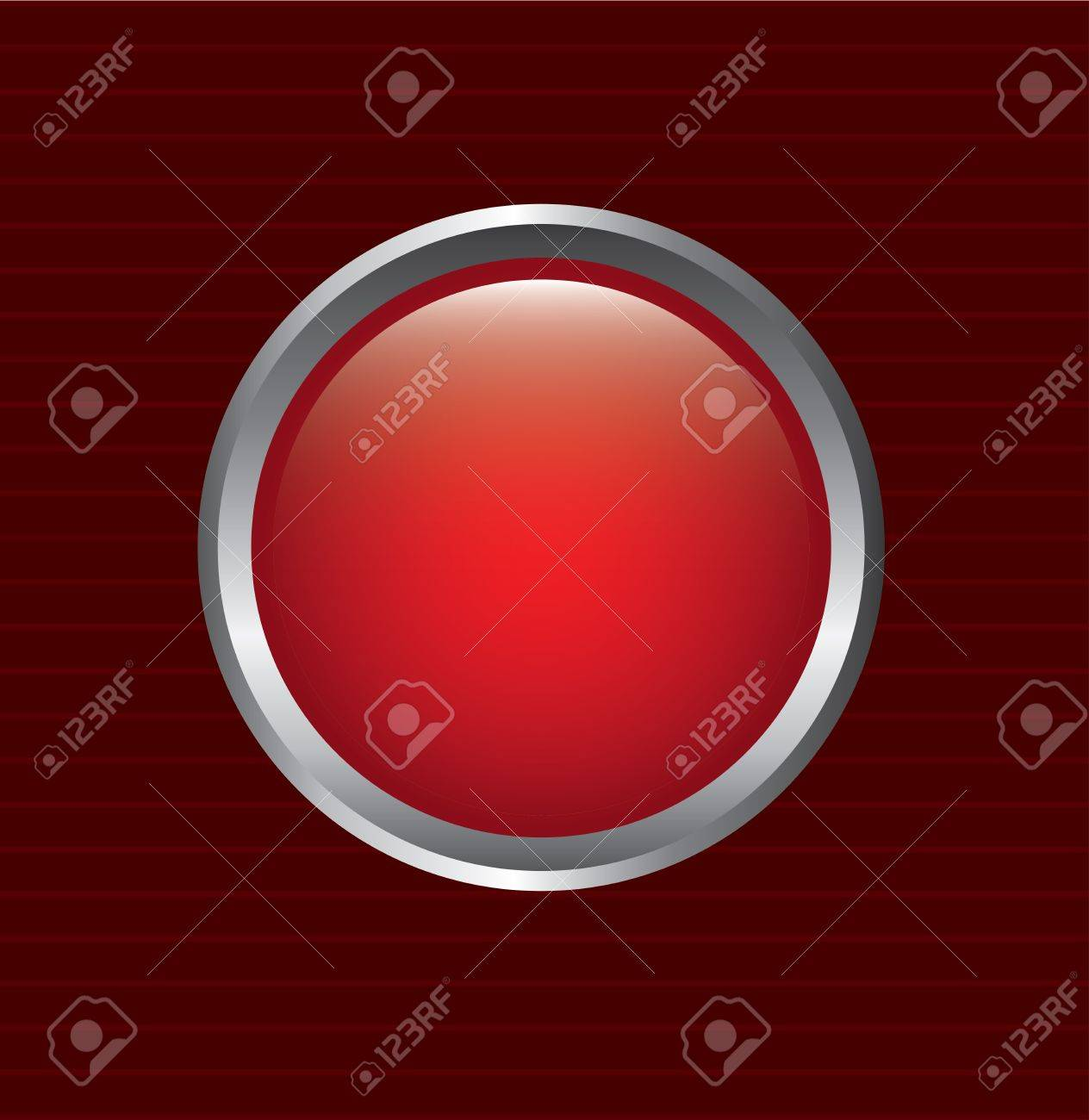 red button over lines background vector illustration Stock Vector - 20222058
