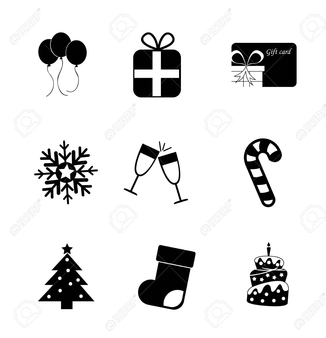 christmas icons over white background vector illustration Stock Vector - 20498591
