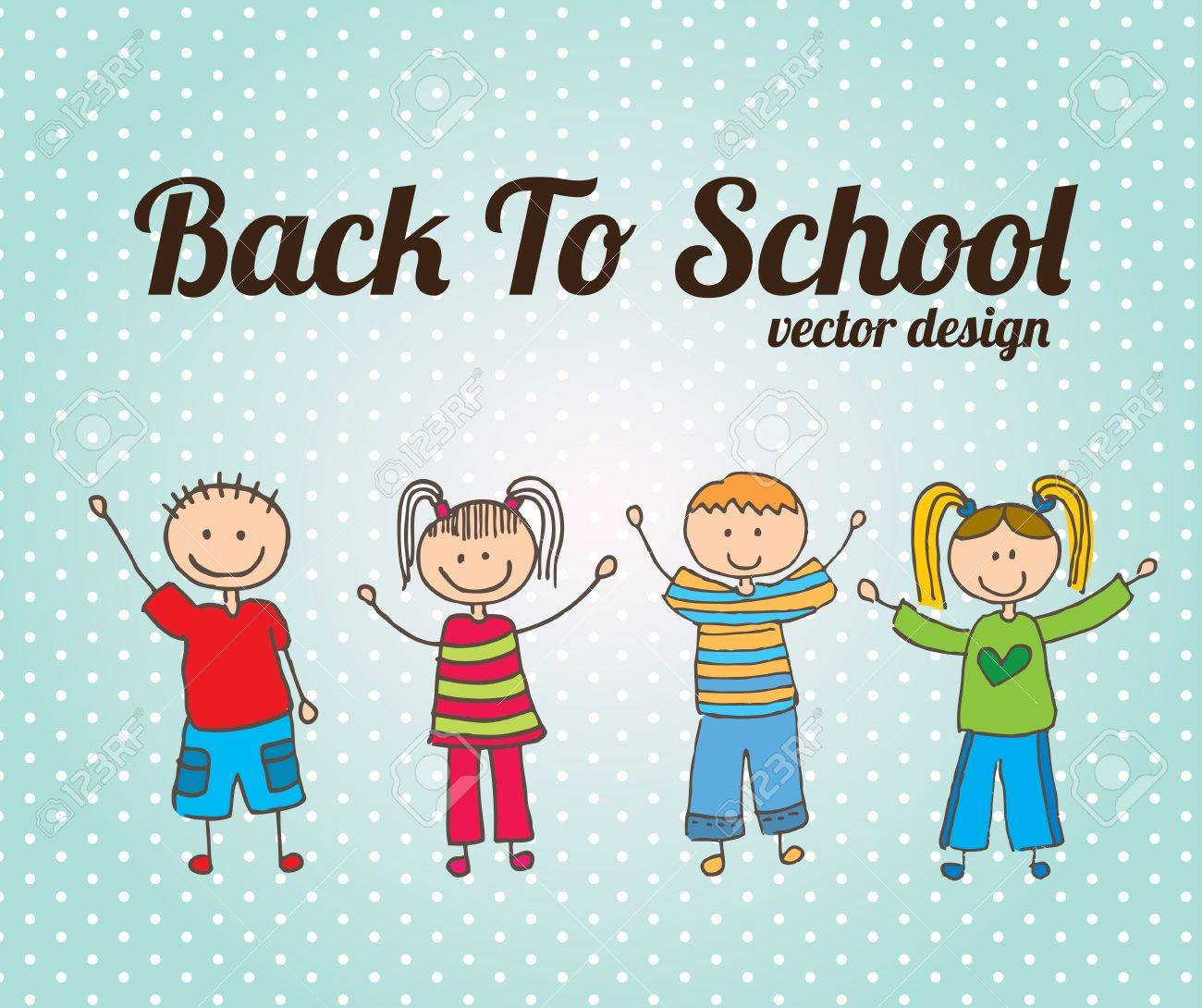 back to school design over dotted background vector illustration Stock Vector - 20498762