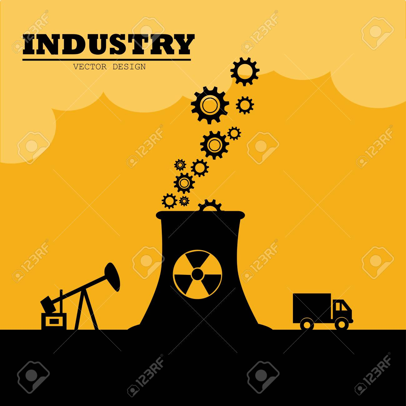 industry design over sky background vector illustration Stock Vector - 20500032