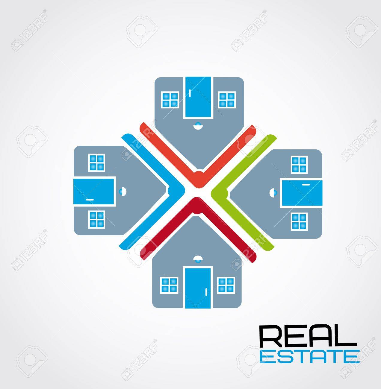 real estate design over white background vector illustration Stock Vector - 20500221