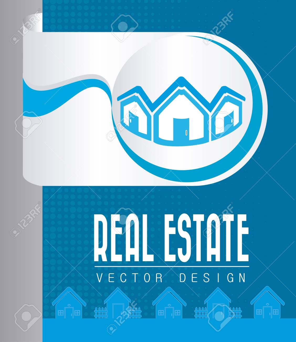real estate design over blue background vector illustration Stock Vector - 20500430