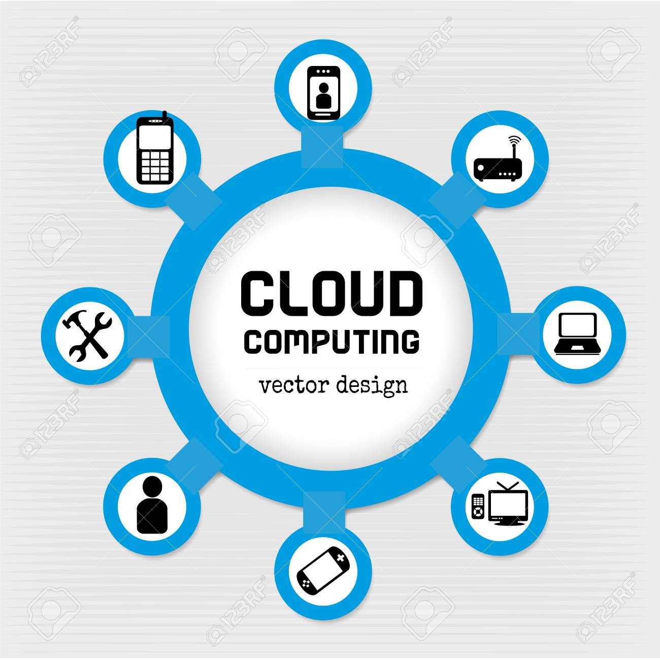 cloud computing design over gray background vector illustration Stock Vector - 20500020