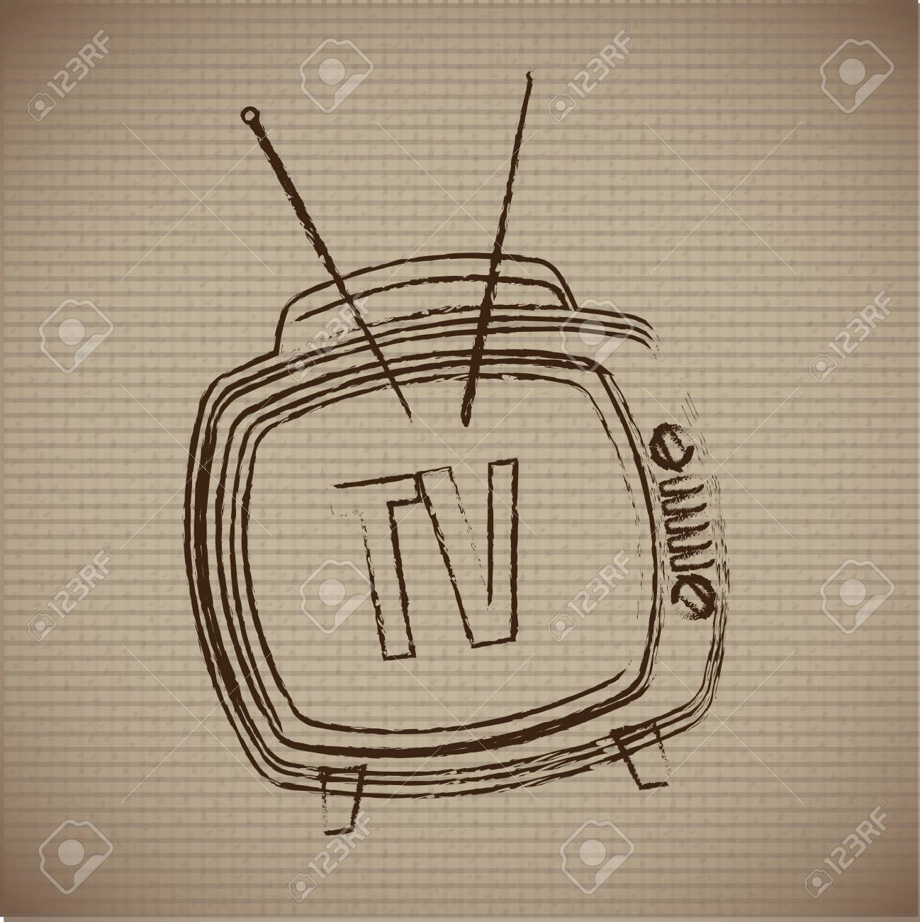 classic television over vintage background Stock Vector - 20702196