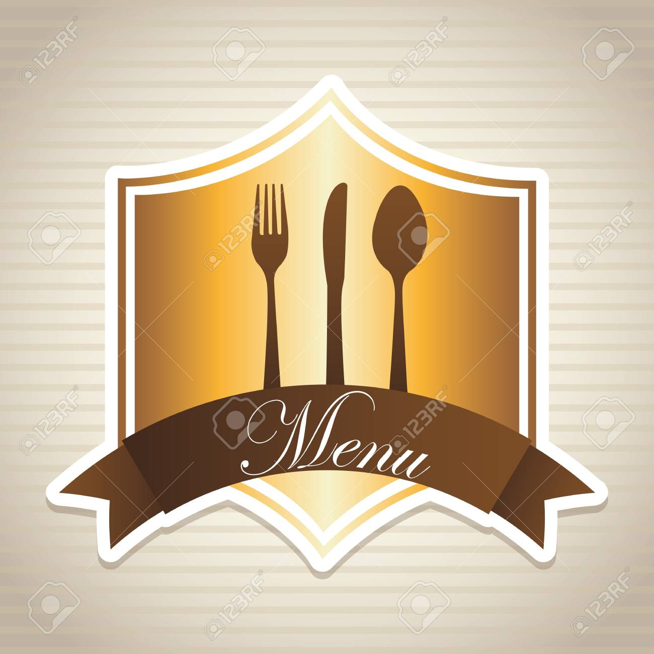 menu design over lineal background Stock Vector - 20756748