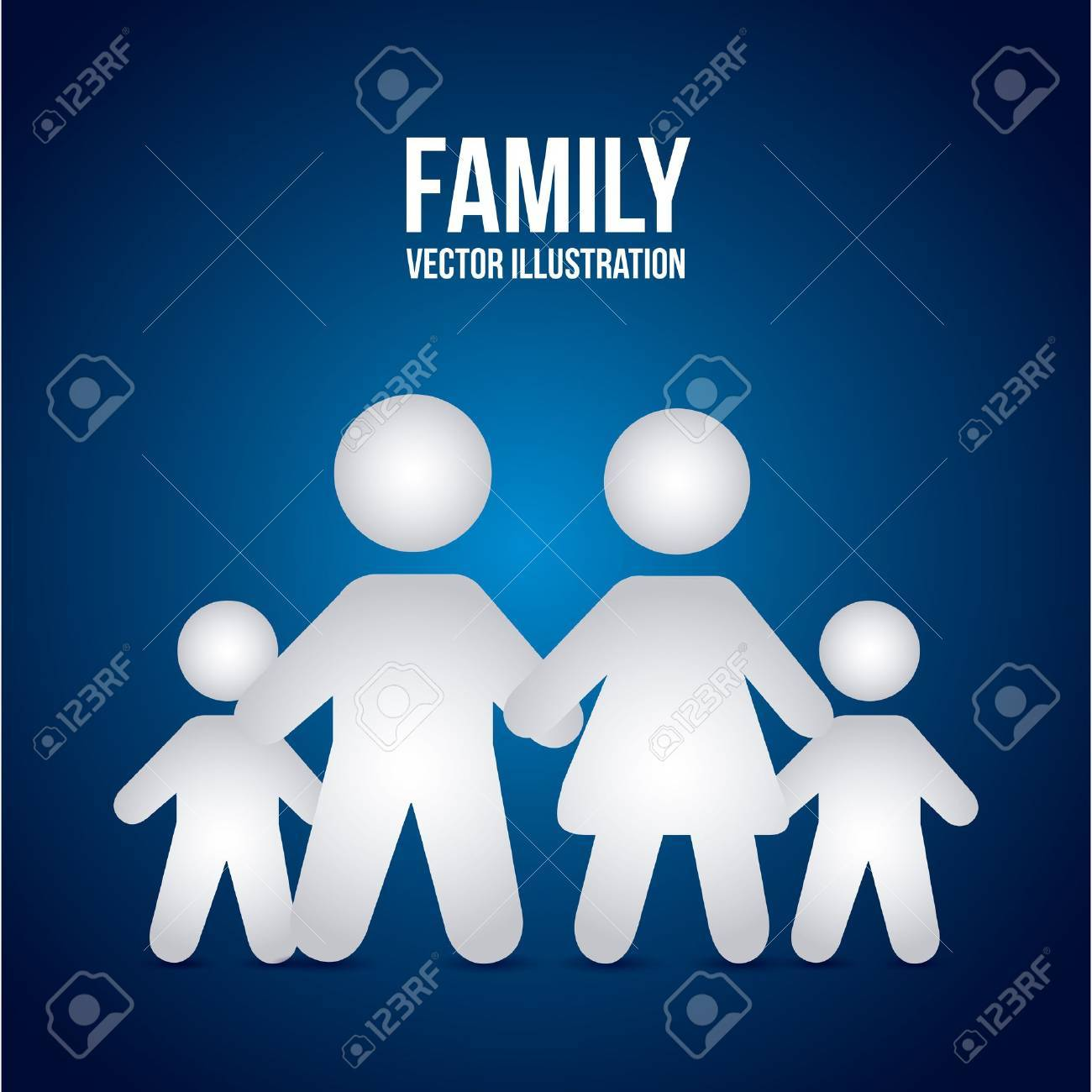family design over blue background Stock Vector - 21287092