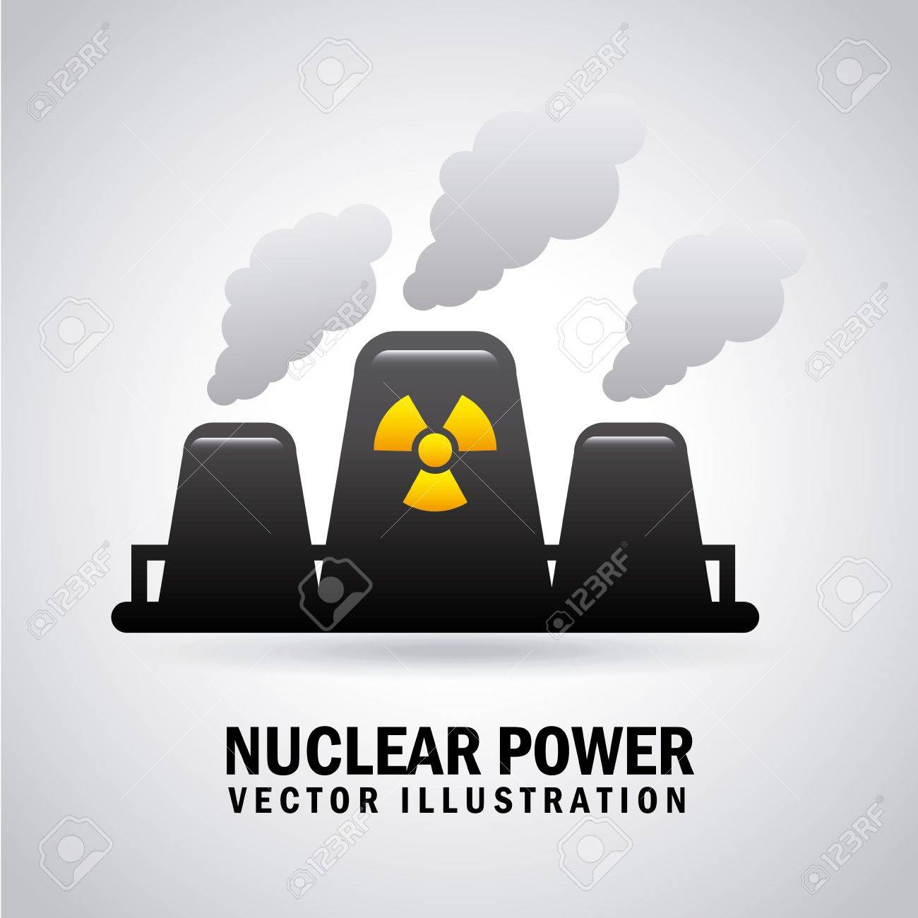 nuclear power over gray background Stock Vector - 21287181