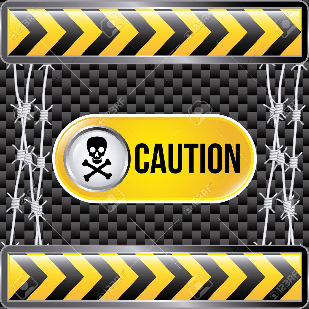 caution tape over black background Stock Vector - 21287363