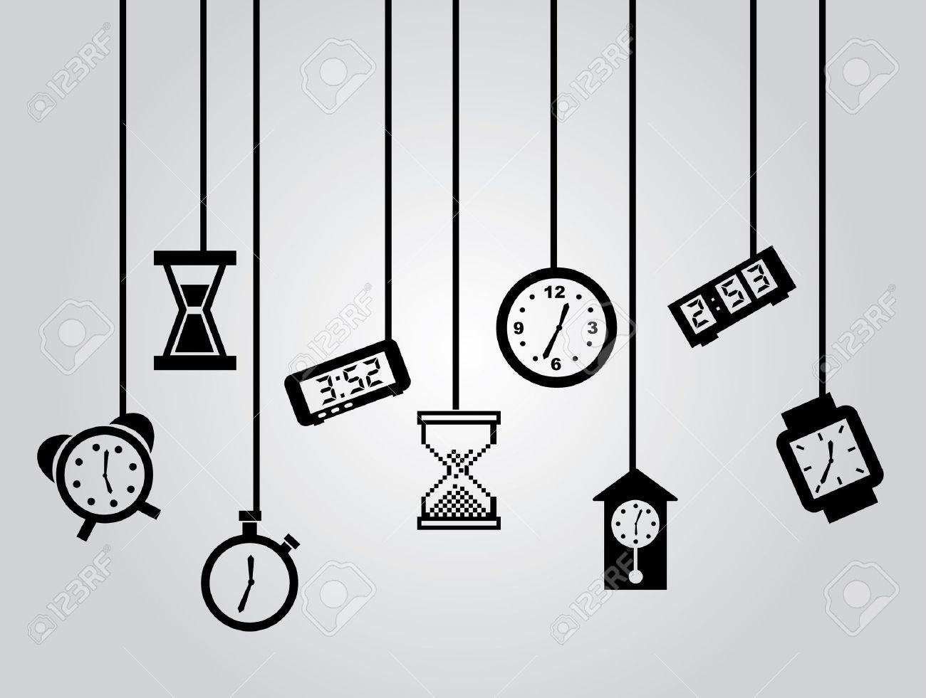 time icons over gray background vector illustration Stock Vector - 21371963