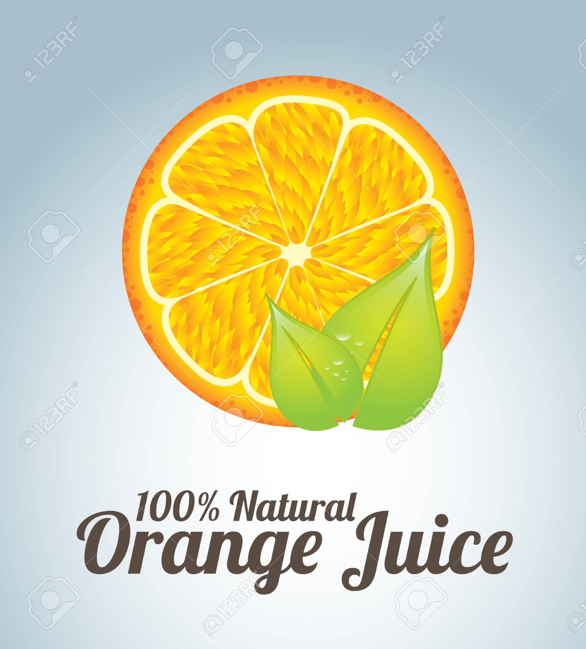 orange juice  over blue background vector illustration Stock Vector - 21371981