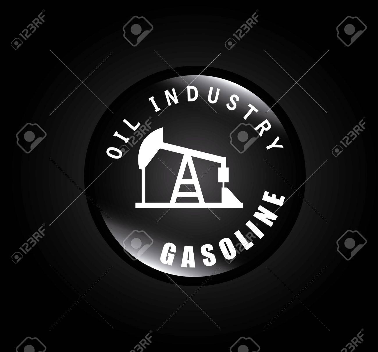 oil industry over black background vector illustration Stock Vector - 21372043