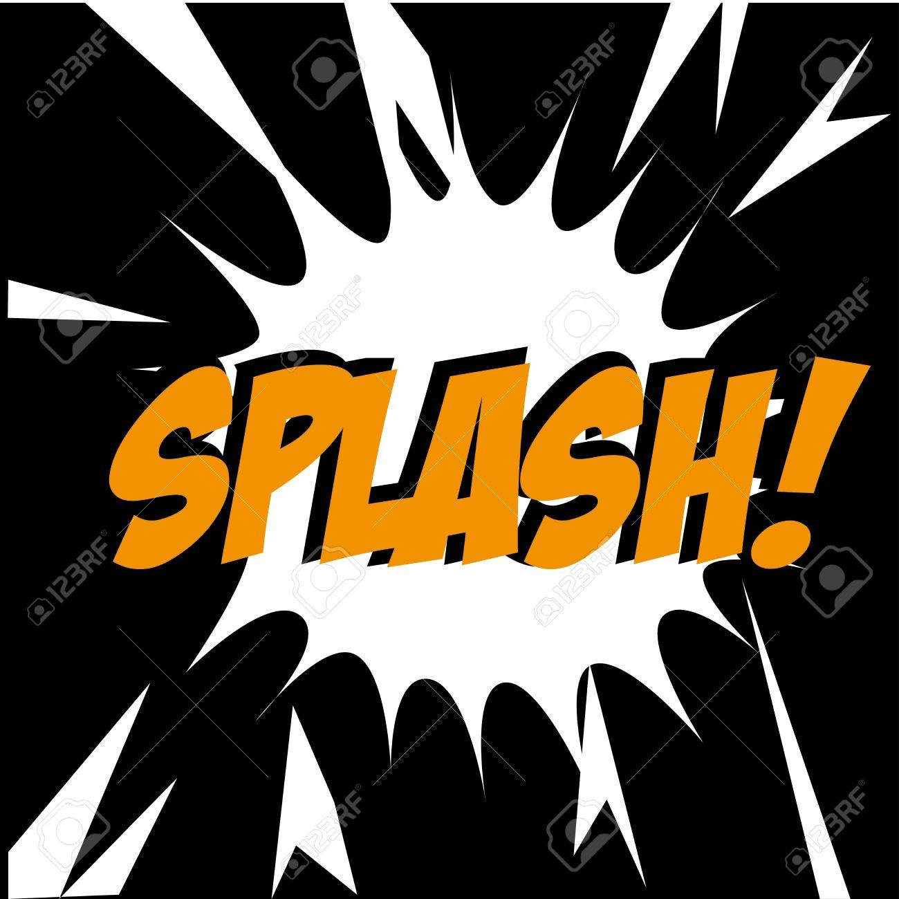 splash comic over black background vector illustration Stock Vector - 21533088