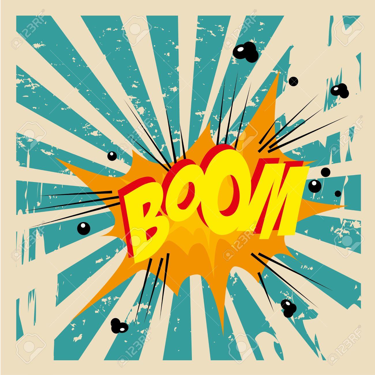 boom comic over grunge background vector illustration Stock Vector - 21533100