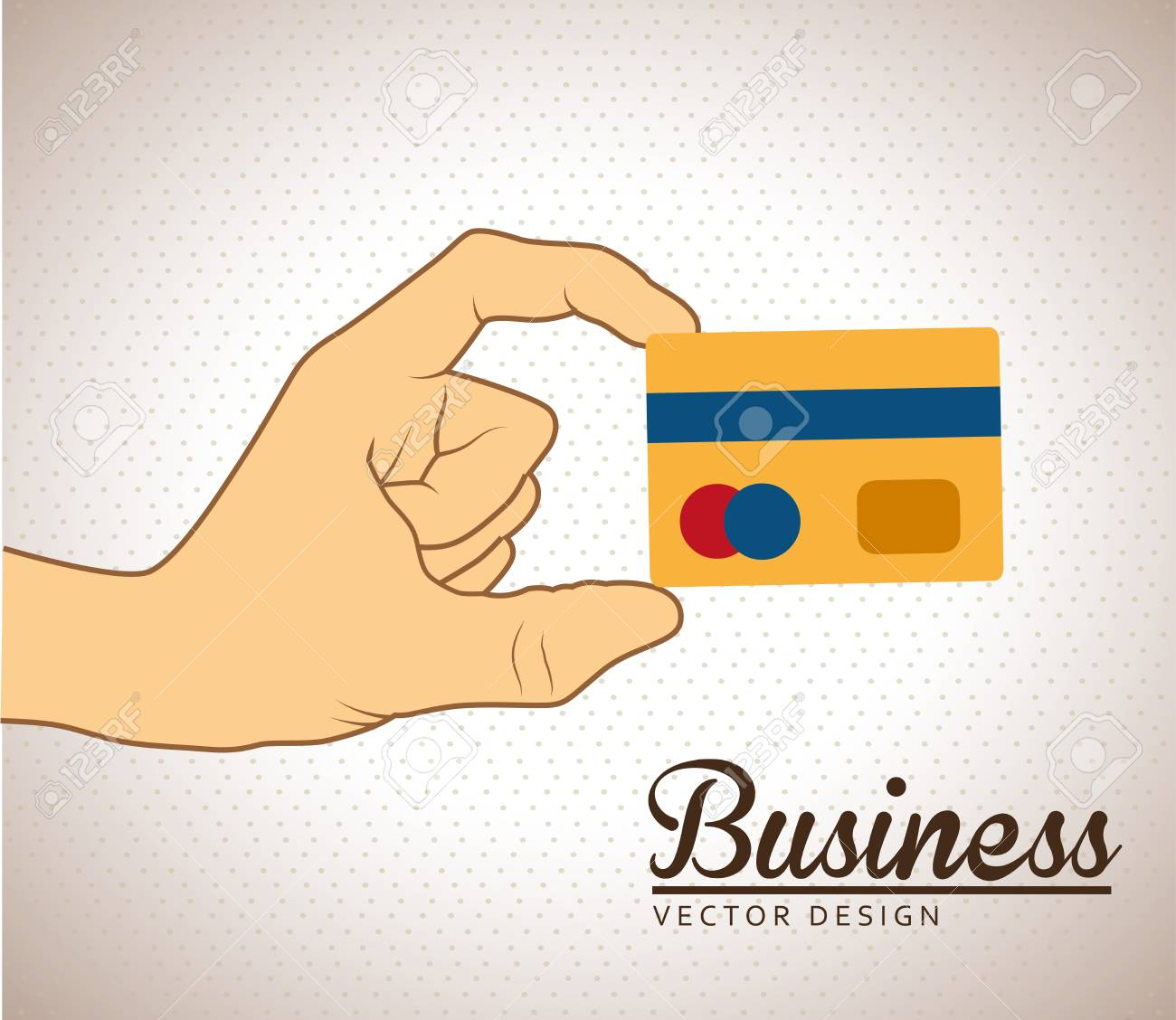 credit card over dotted background vector illustration Stock Vector - 21533345