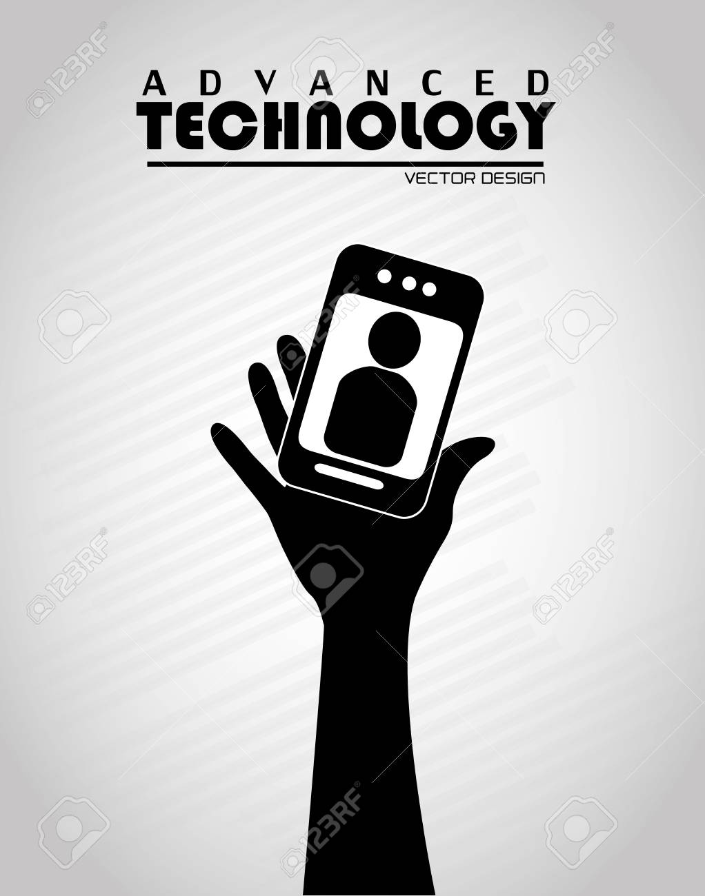 advanced technology over gray  background Stock Vector - 21679166