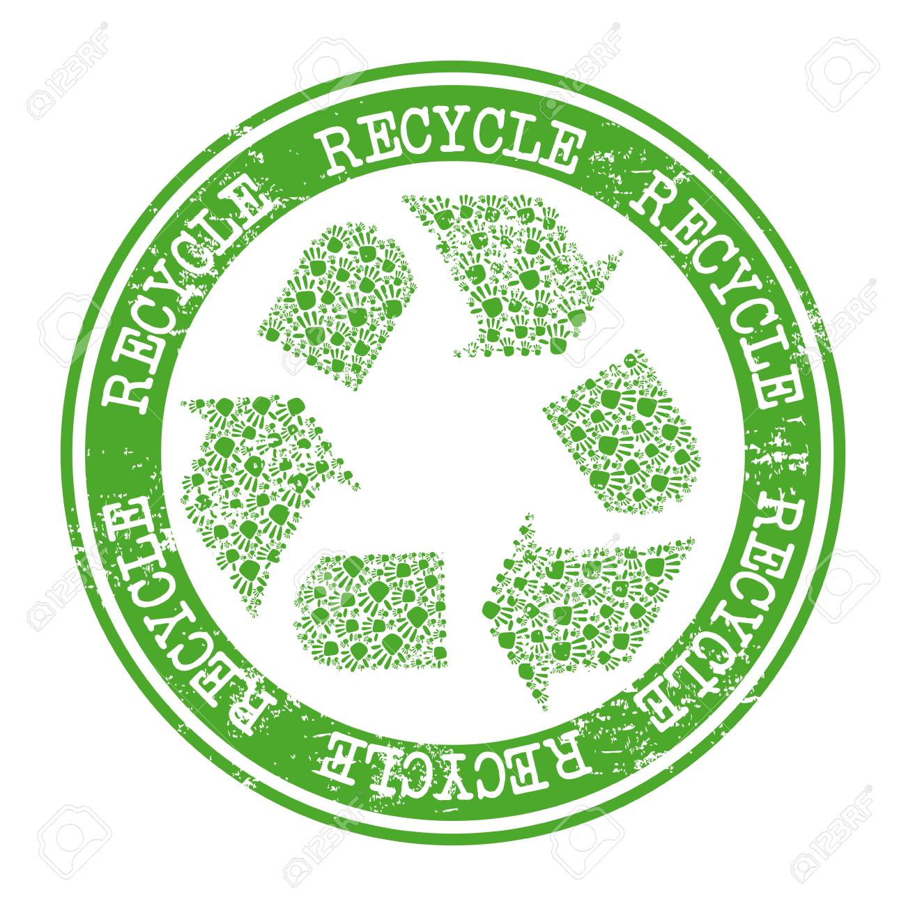 recycle label over white background vector illustration Stock Vector - 22253412