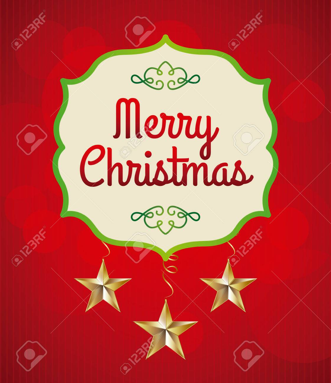 christmas design over red background vector illustration Stock Vector - 22196888