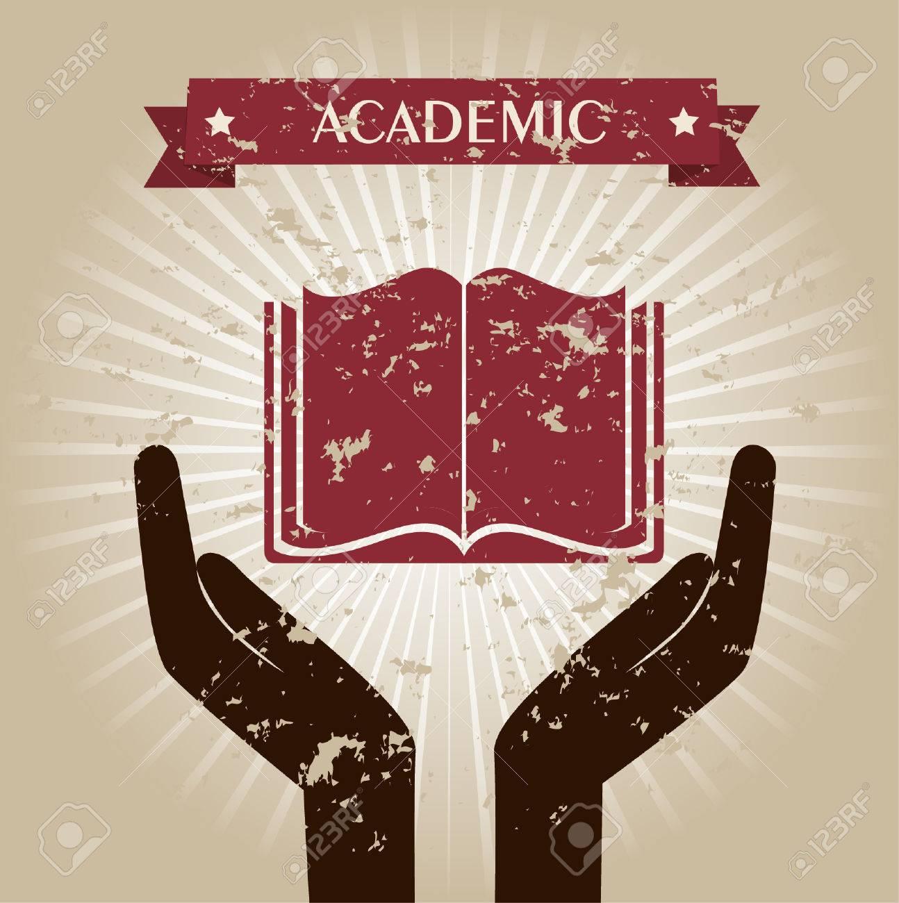 academic design over beige background vector illustration Stock Vector - 22266778