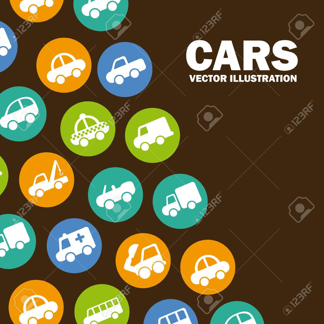 cars design over brown background vector illustration Stock Vector - 22311034
