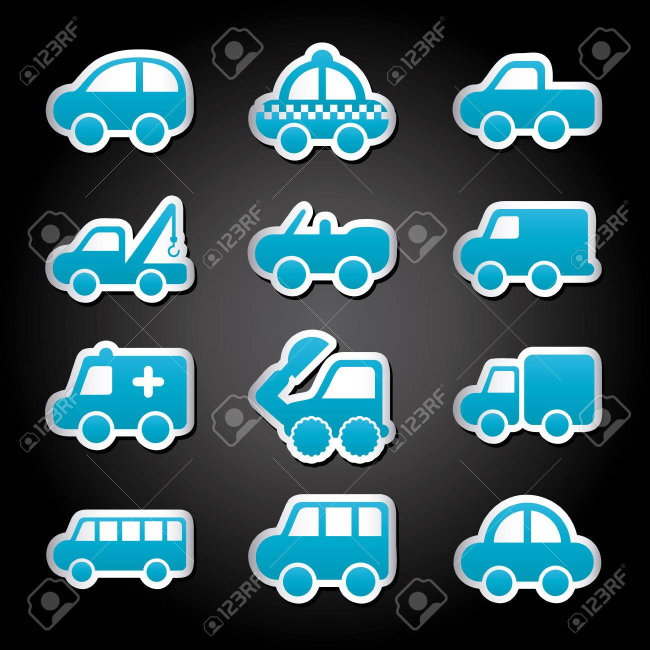 cars design over black background vector illustration Stock Vector - 22311038