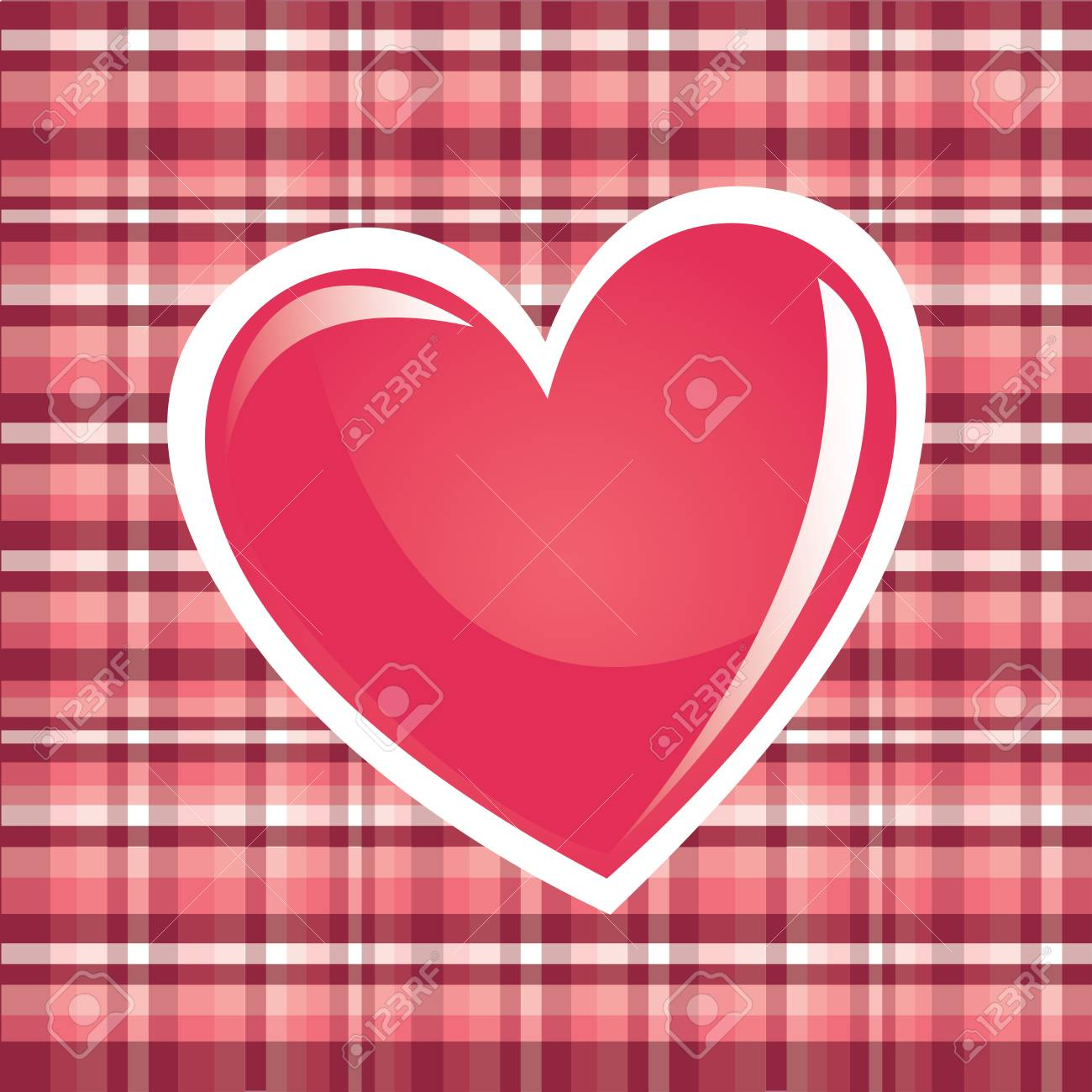 love heart over pink background vector illustration Stock Vector - 22325844