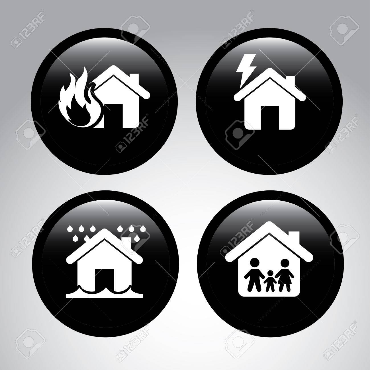 insurance icons over gray background vector illustration Stock Vector - 22326993